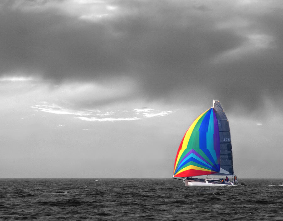Sailboat Photograph - Colors by Elizabeth Reynders