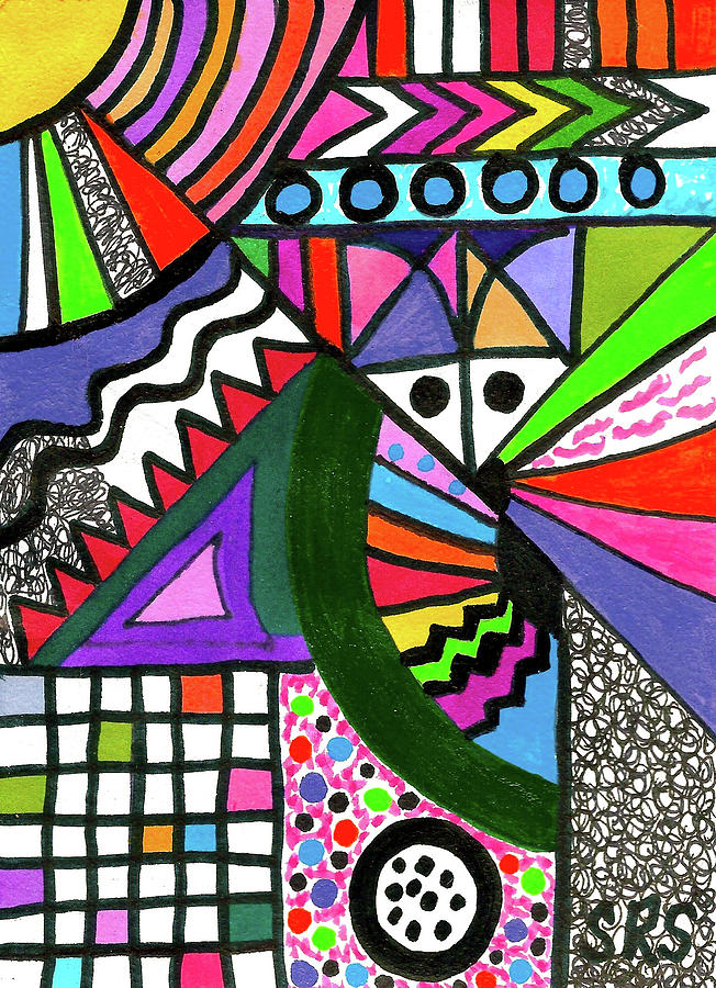 Drawing Drawing - Colors Gone Wild by Susan Schanerman