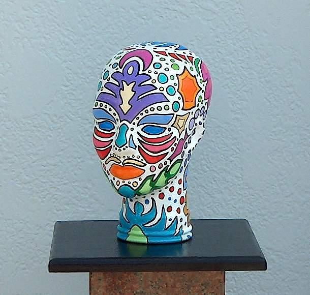Sculpture Glass Art - Colors In My Head by Kathleen Henner