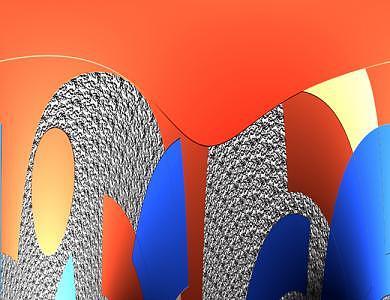 Colors In Orange And Blue Digital Art by Lindy Bradley