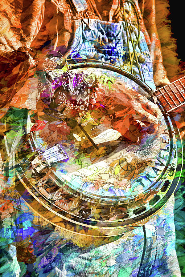 Buskers Photograph - Colors Of A Banjo Busker by John Haldane