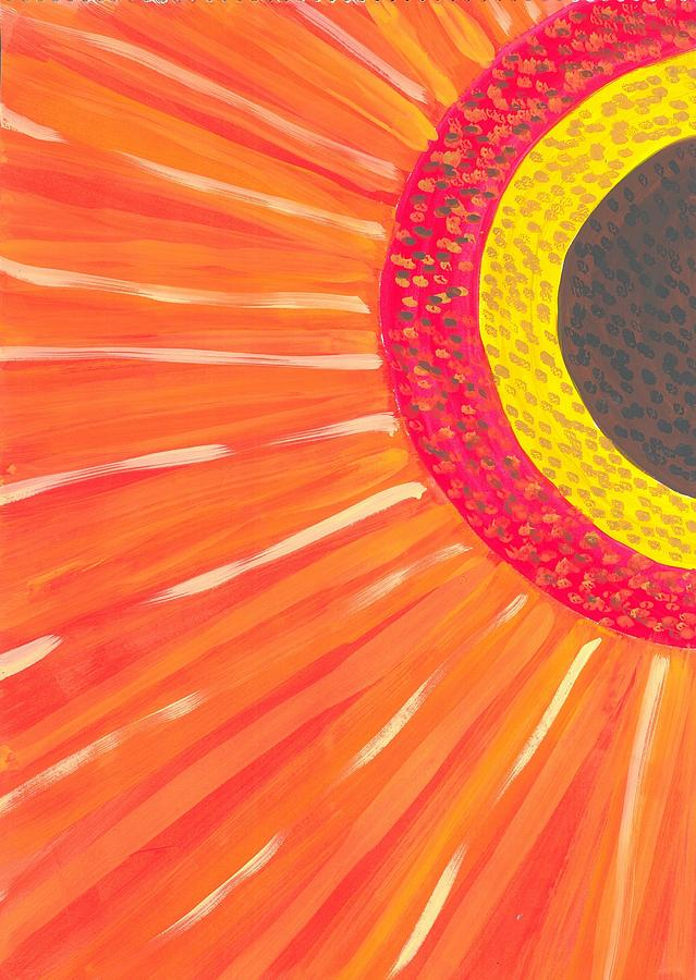Flower Painting - Colors Of Daisy by Jeniya Dutta