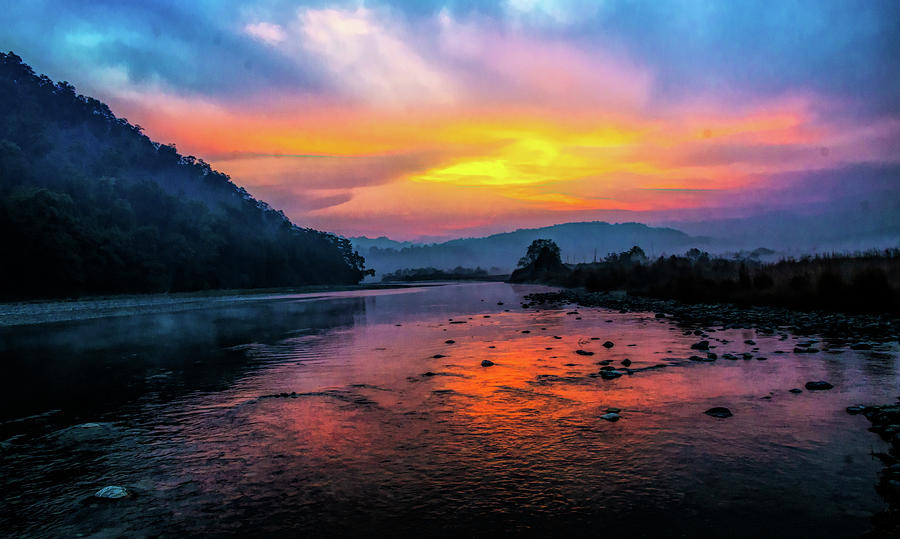 Landscape Photograph - Colors Of Dawn by Pravine Chester