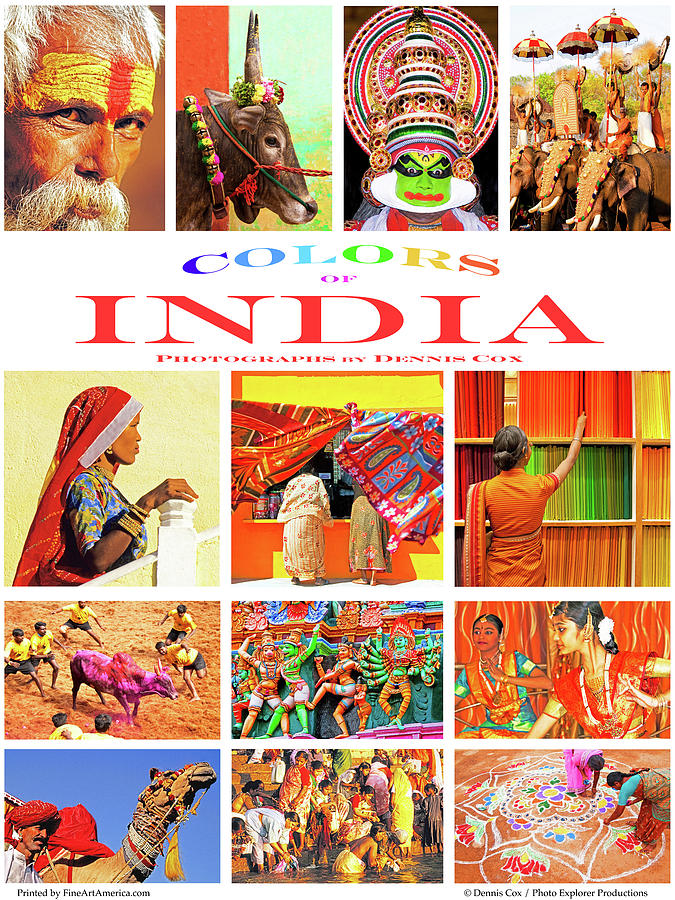 Colors Of India Poster Photograph