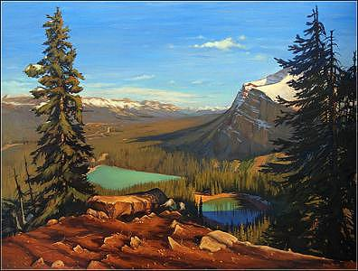 Landscape Painting - Colors Of Lake Louise by Dmitry Oivadis