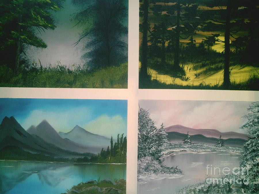 Mountains Painting - Colors Of Landscape 2 by Jim Saltis