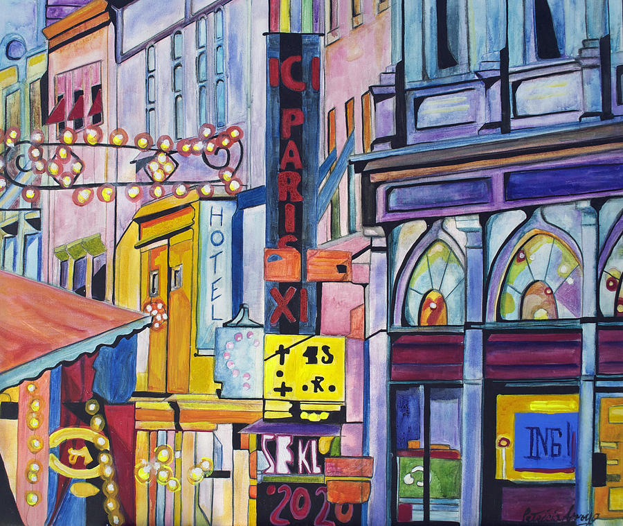 Cityscape Painting - Colors Of Paris by Patricia Arroyo