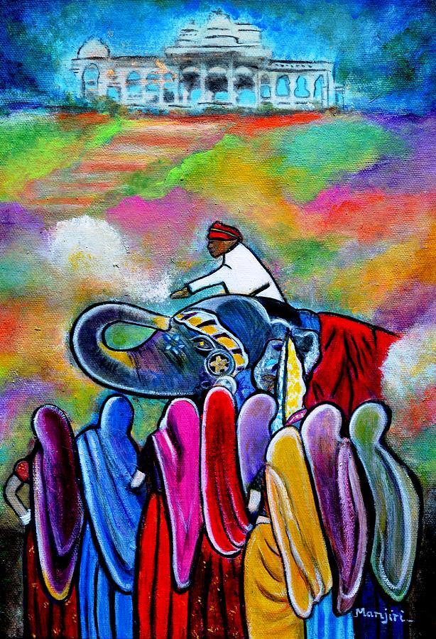 Rajasthan Painting - Colors Of Rajasthan by Manjiri Kanvinde
