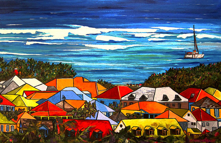 St Martin Painting - Colors Of St Martin by Patti Schermerhorn