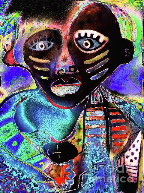 Portrait Painting Digital Art - Colors by Robert Daniels