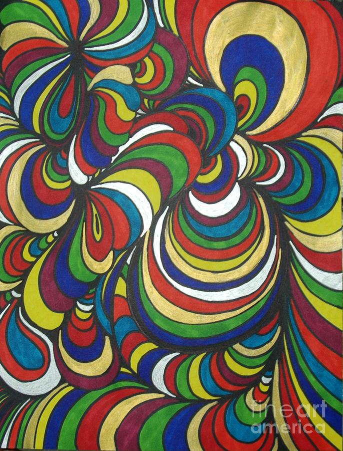 Abstract Drawing - Colorway 2 by Ramneek Narang