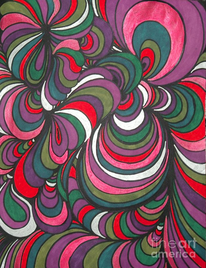 Abstract  Drawing - Colorway 5 by Ramneek Narang