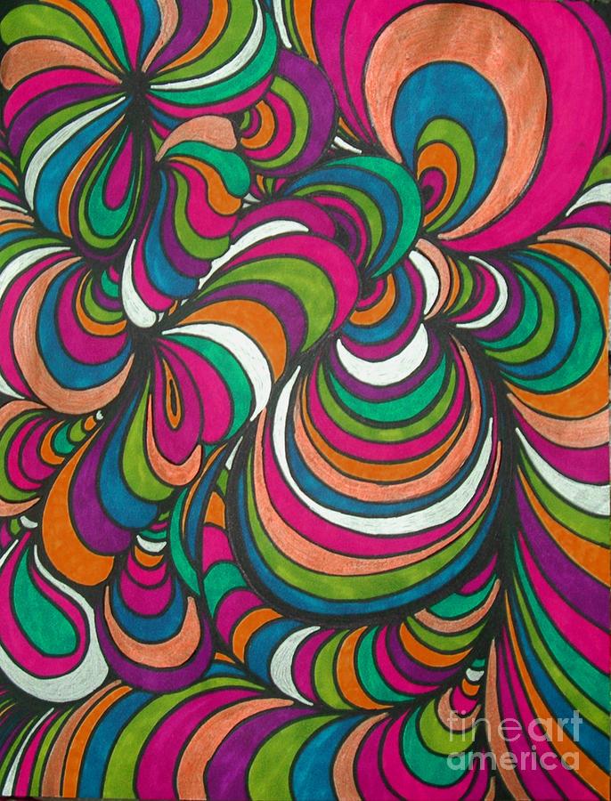Abstract Drawing - Colorway1 by Ramneek Narang