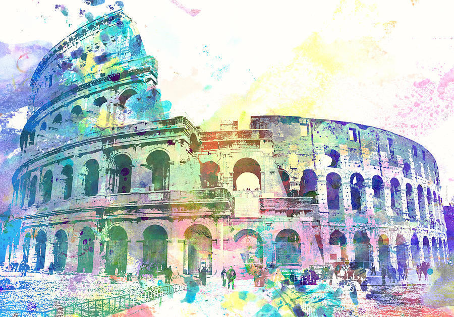 Colosseo, Roma Painting