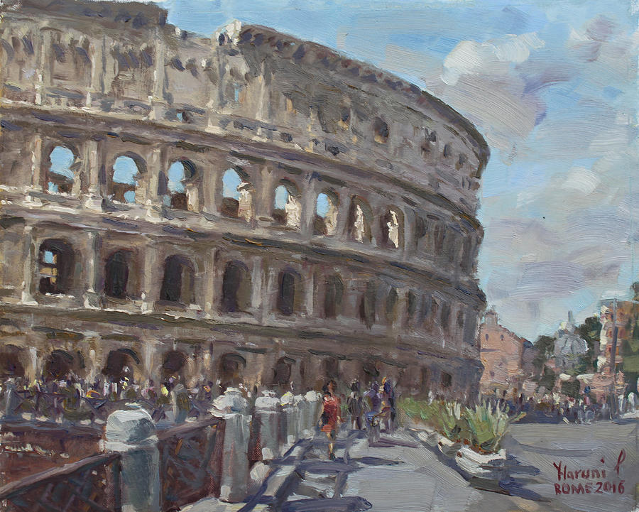 Colosseo Painting - Colosseo Rome by Ylli Haruni