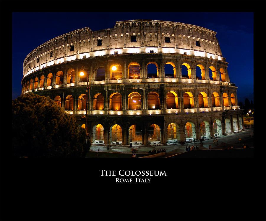 Italy Photograph - Colosseum At Night by Alan Zeleznikar