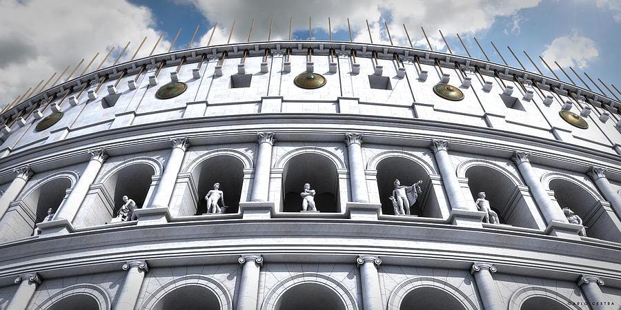 Colosseo Digital Art - Colosseum by Carlo Cestra