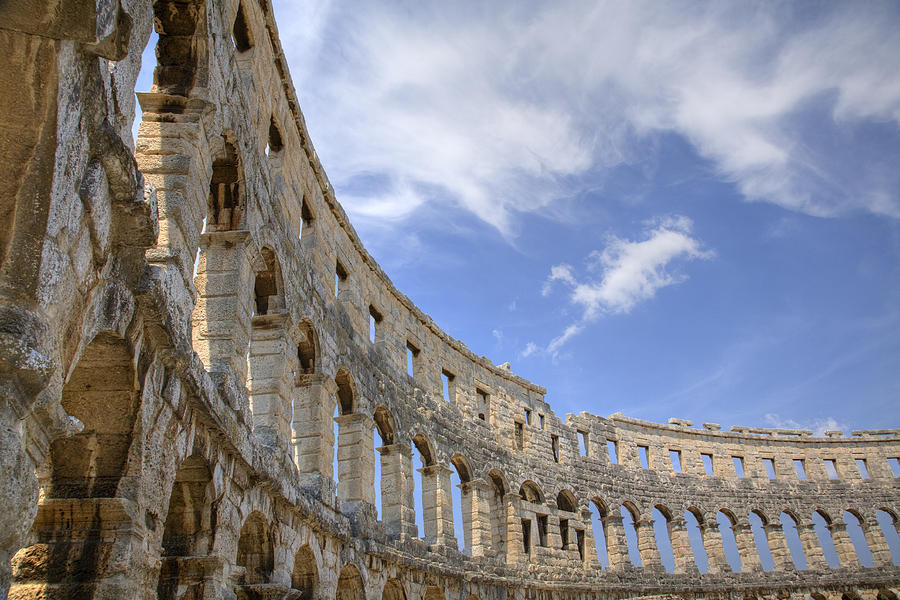 Colosseum Photograph - Colosseum In Pula Croatia by Ian Middleton