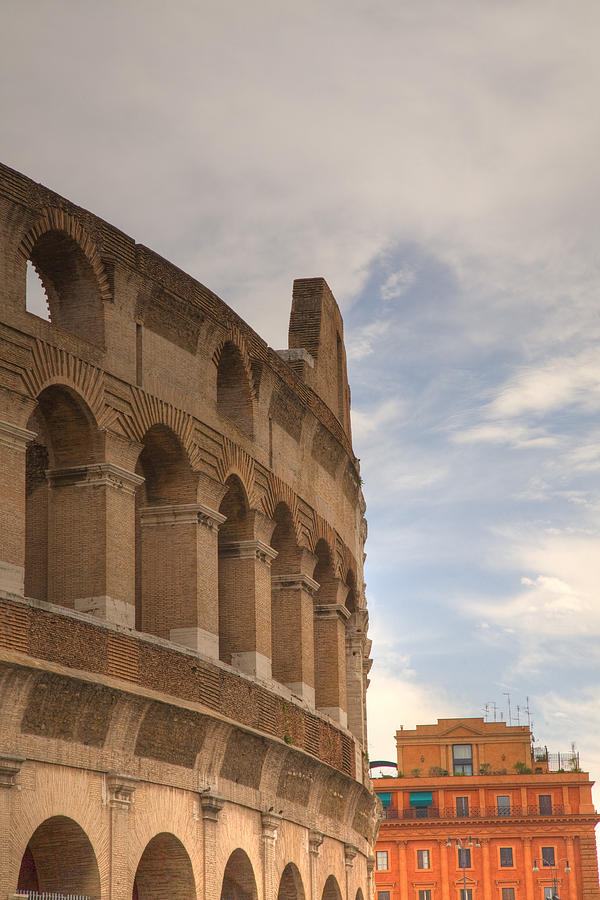 Italian Photograph - Colosseum In The Historic Centre Of Rome by Ian Middleton