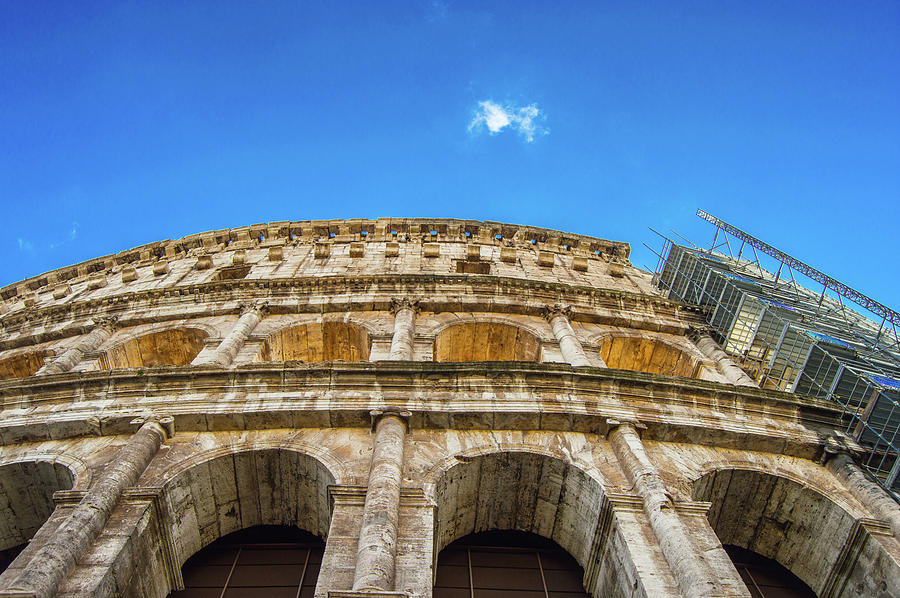 Colosseum Photograph - Colosseum Perspective by Kyle Goetsch
