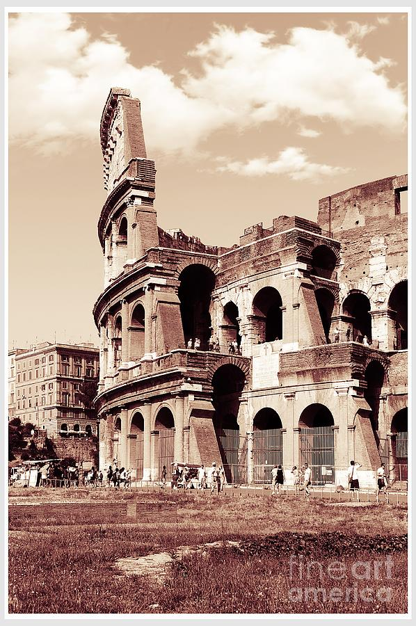 Colosseum Photograph - Colosseum Toned Sepia by Stefano Senise
