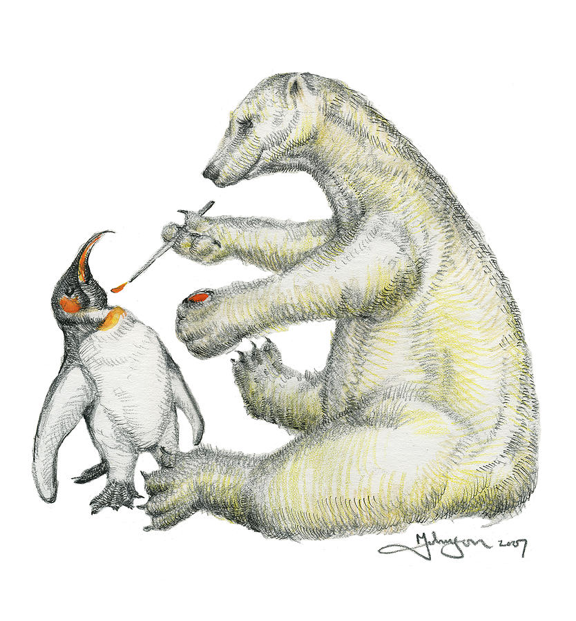 Whimsies Drawing - Colour Bear by Mark Johnson