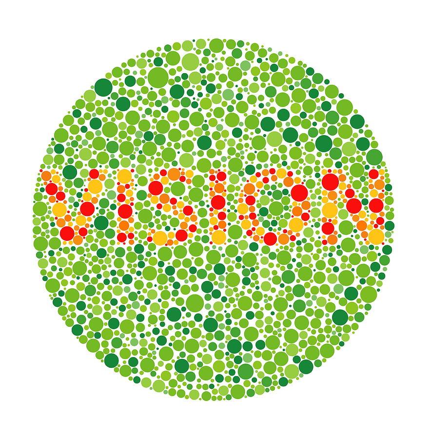 Plate Photograph - Colour Blindness Test by David Nicholls