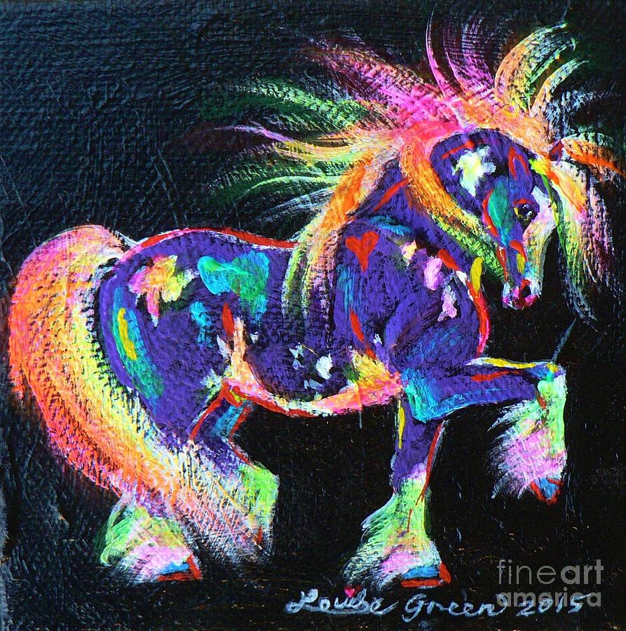 Pinto Painting - Colour Dance Cob by Louise Green