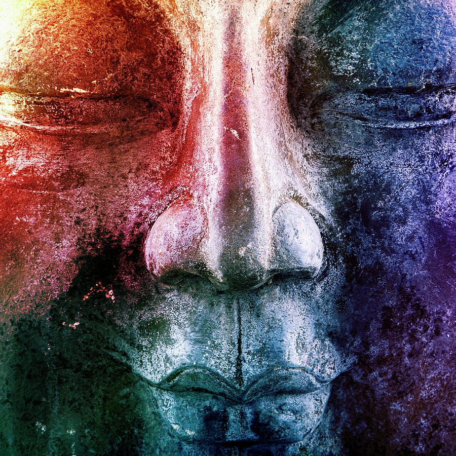 Colourful Buddha by 2bhappy4ever