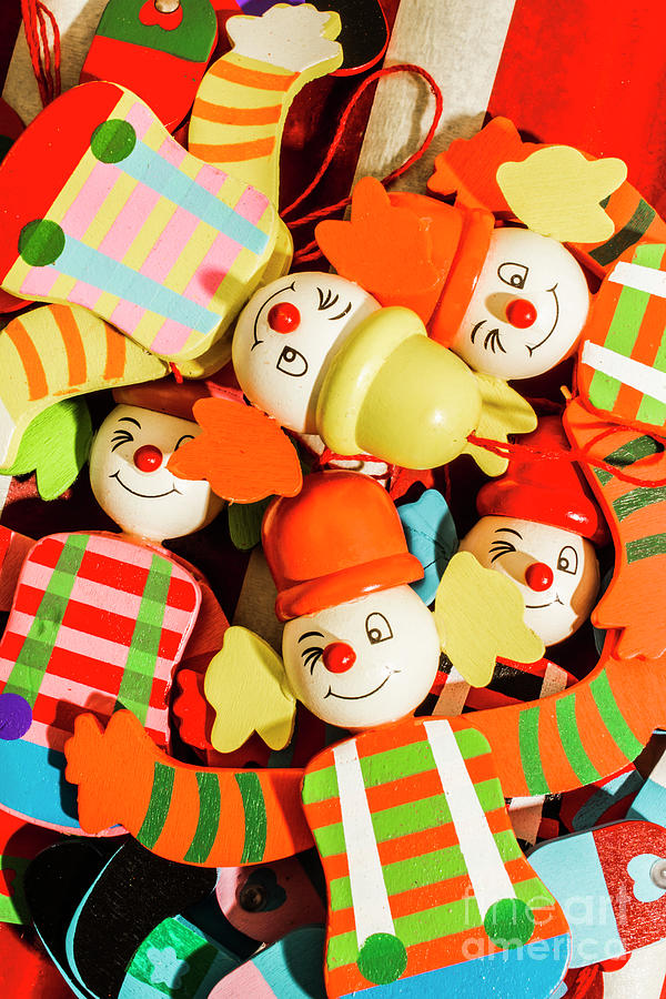 Still Life Photograph - Colourful Character Clowns by Jorgo Photography - Wall Art Gallery