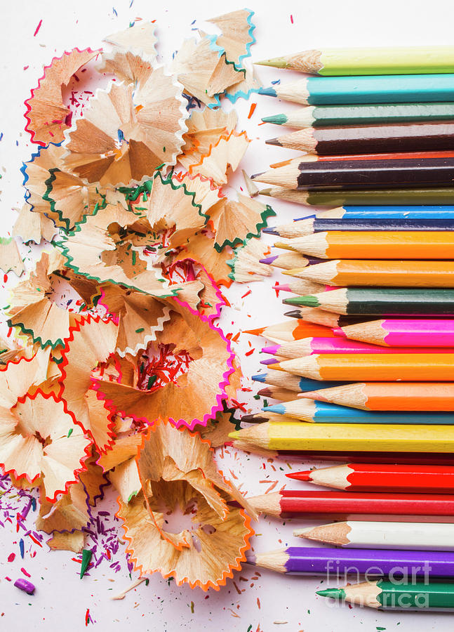 Pencil Photograph - Colourful Leftovers by Jorgo Photography - Wall Art Gallery