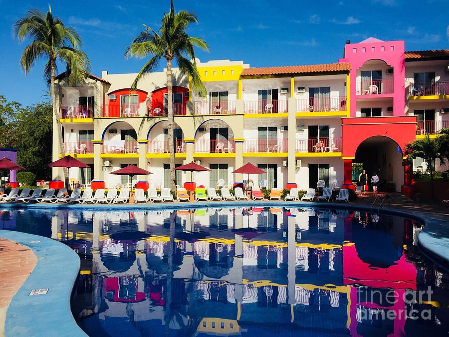 Colourful Resort In Bucerias Mexico by Bill Thomson