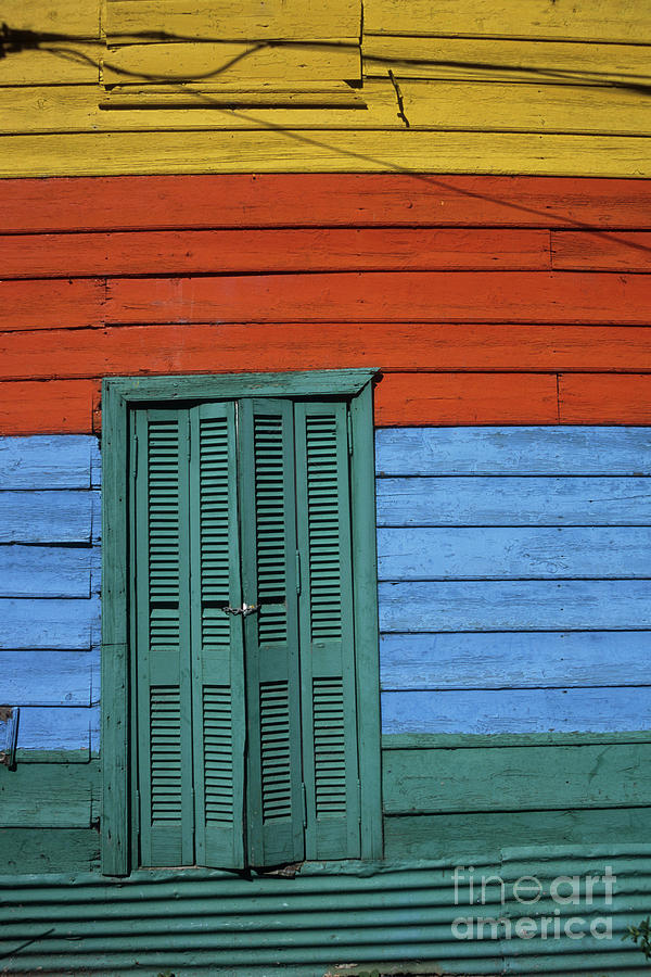 Buenos Aires Photograph - Colourful Shutters La Boca Buenos Aires by James Brunker