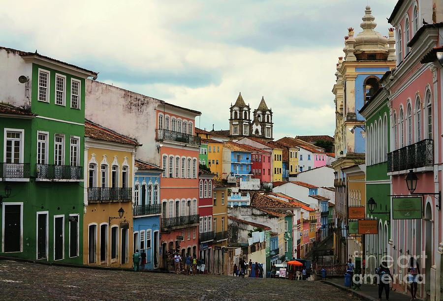 Colourful Street In Sao Salvador by Vivian Christopher