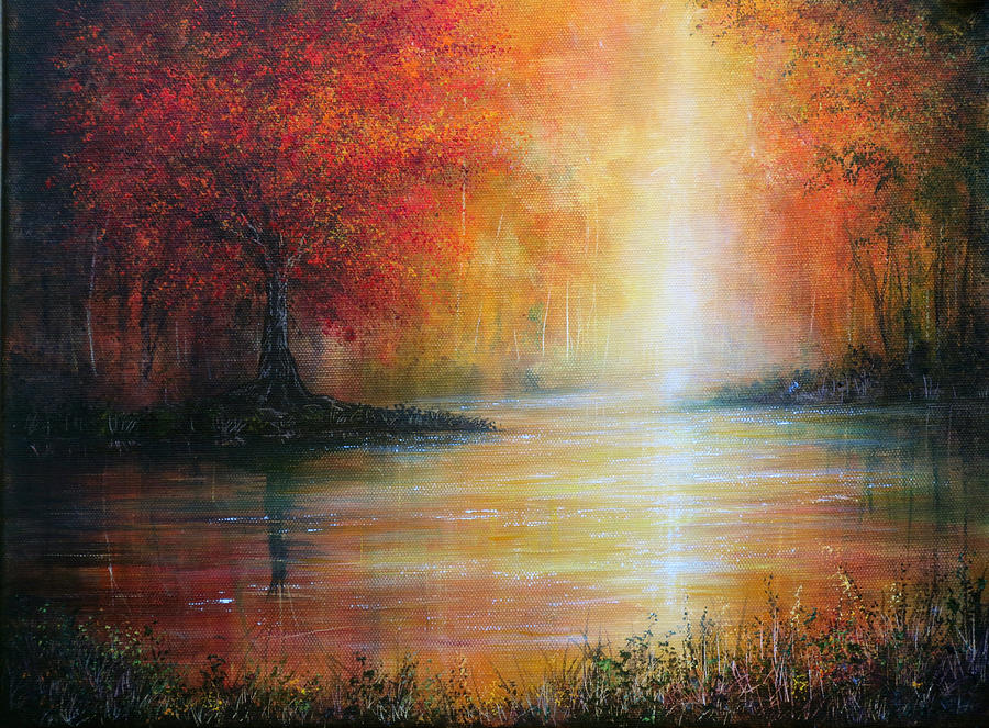 Hand Painted Painting - Colours Of Autumn by Ann Marie Bone