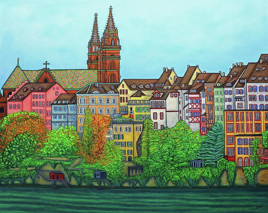 Lisa Lorenz Painting - Colours Of Basel, Switzerland by Lisa Lorenz