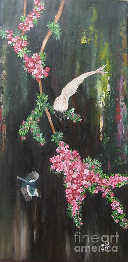 Nature Painting - Colours Of Life by Usha Rai