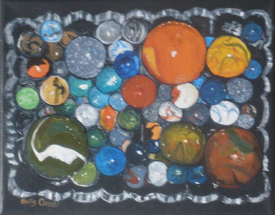Marbles Painting - Coltons Marbles by Betty-Anne McDonald
