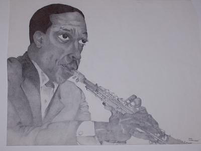 Coltrane Drawing by Glenn Isaac