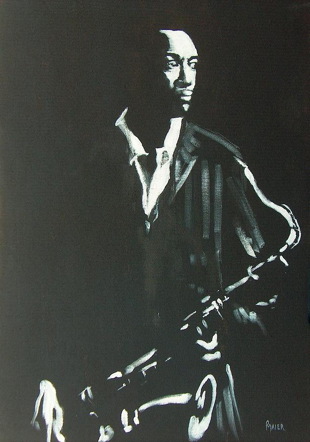 Portrait Painting - Coltrane by Pete Maier