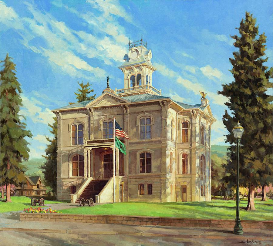 Courthouse Painting - Columbia County Courthouse by Steve Henderson