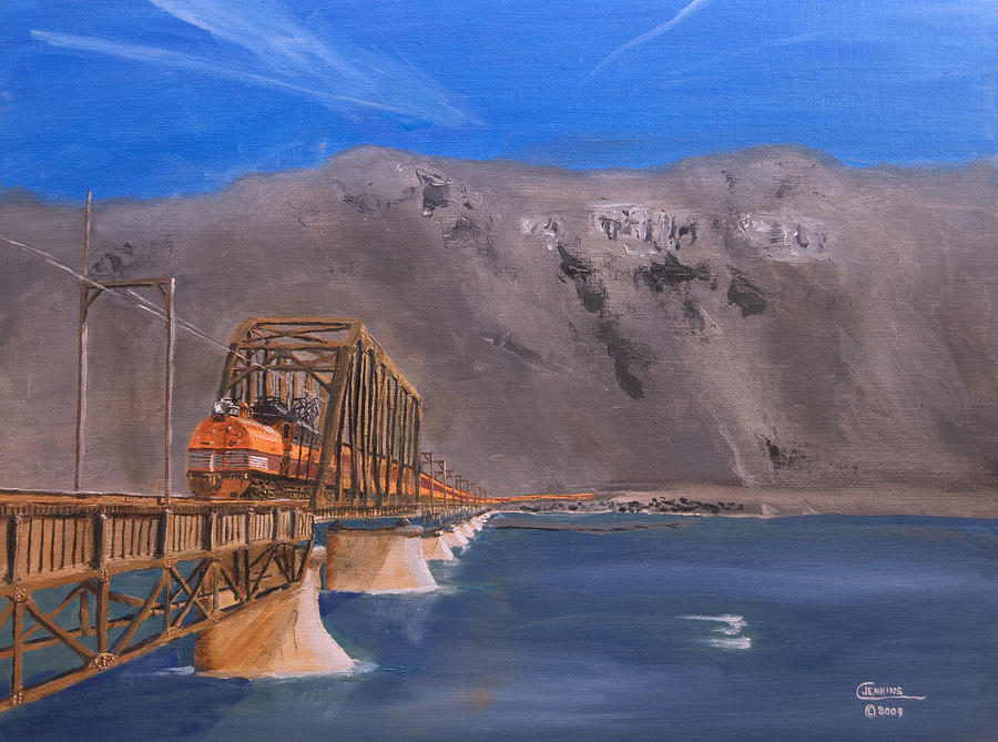 Train Painting - Columbia Crossing by Christopher Jenkins