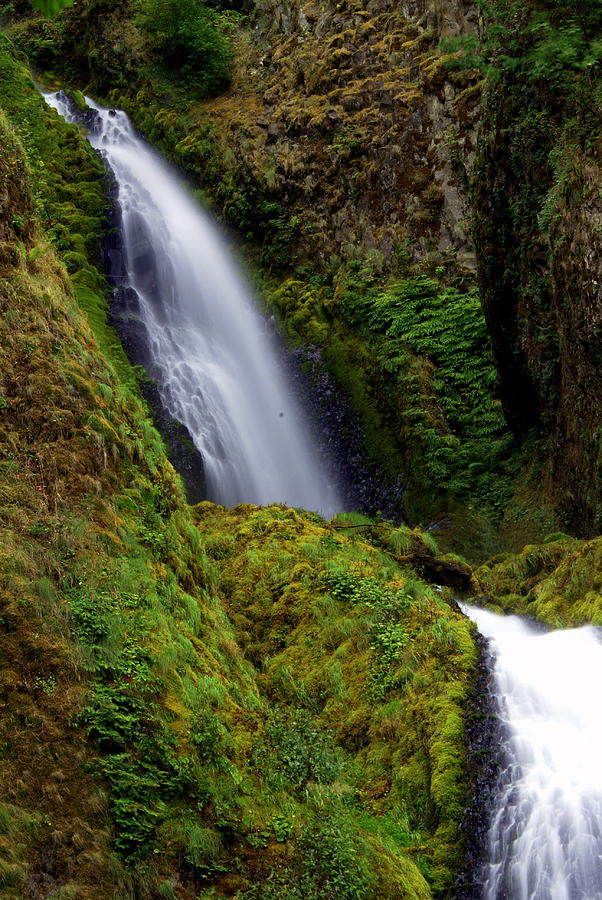 Waterfall Photograph - Columbia River Gorge Falls 1 by Marty Koch