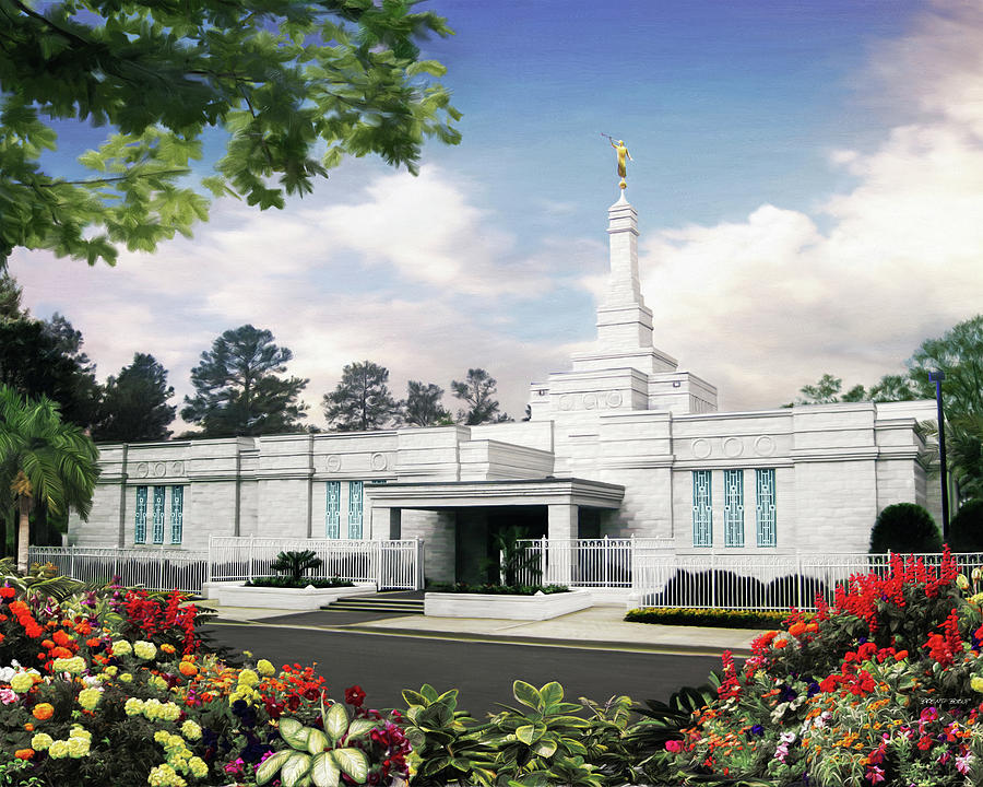 Columbia Painting - Columbia South Carolina Temple by Brent Borup