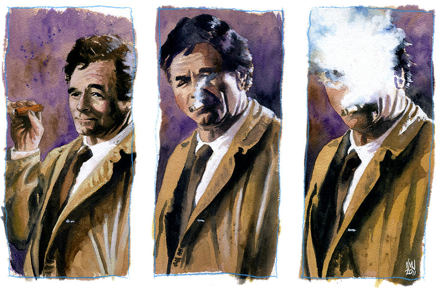 Television Painting - Columbo by Ken Meyer jr