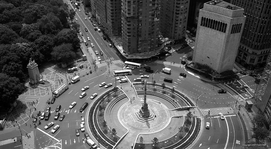 Building Photograph - Columbus Circle NYC c.2005 by Frank Mari