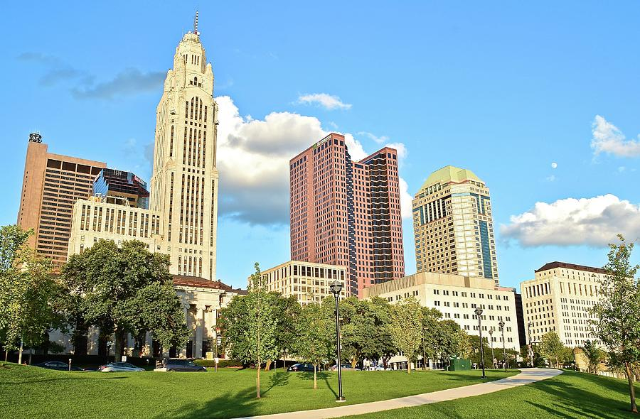 Columbus Photograph - Columbus From The Park by Frozen in Time Fine Art Photography