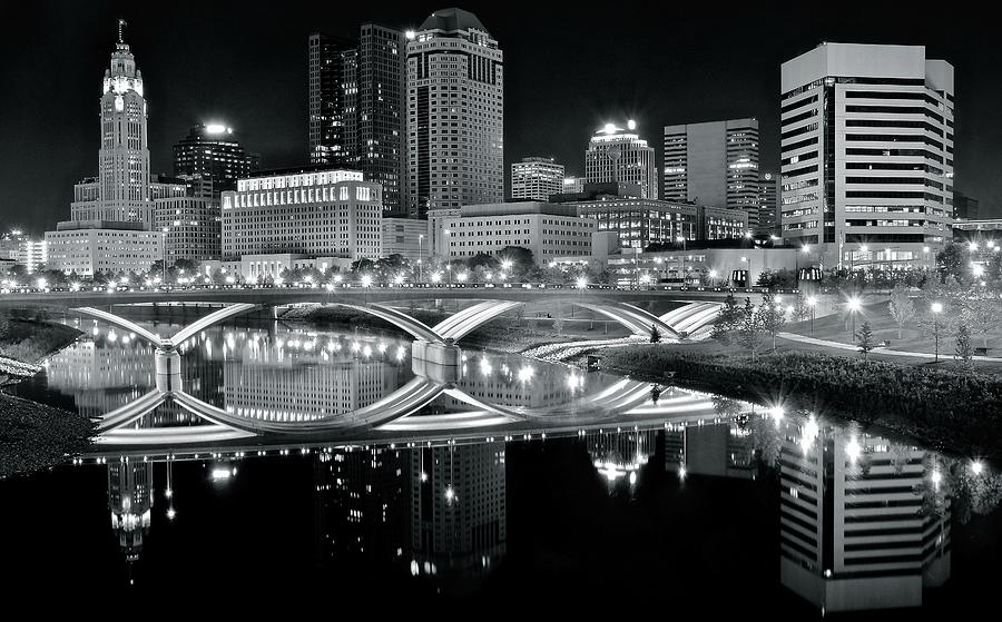 Columbus Ohio Black And White Photograph by Frozen in Time ...