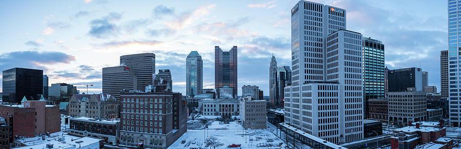 Columbus Winter Panoramic by Charlie Jones