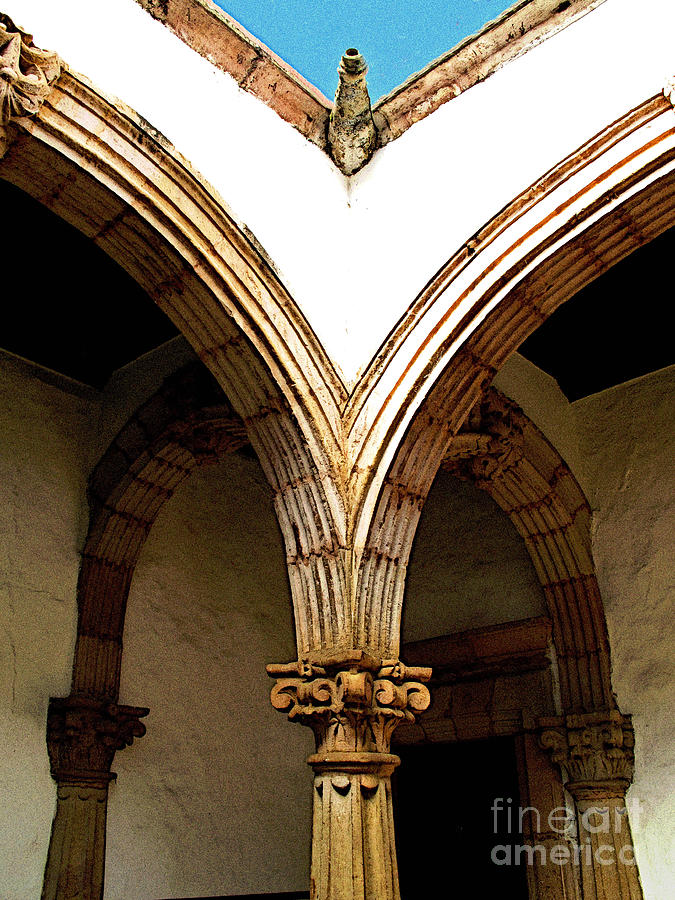 Patzcuaro Photograph - Column And Arch by Mexicolors Art Photography